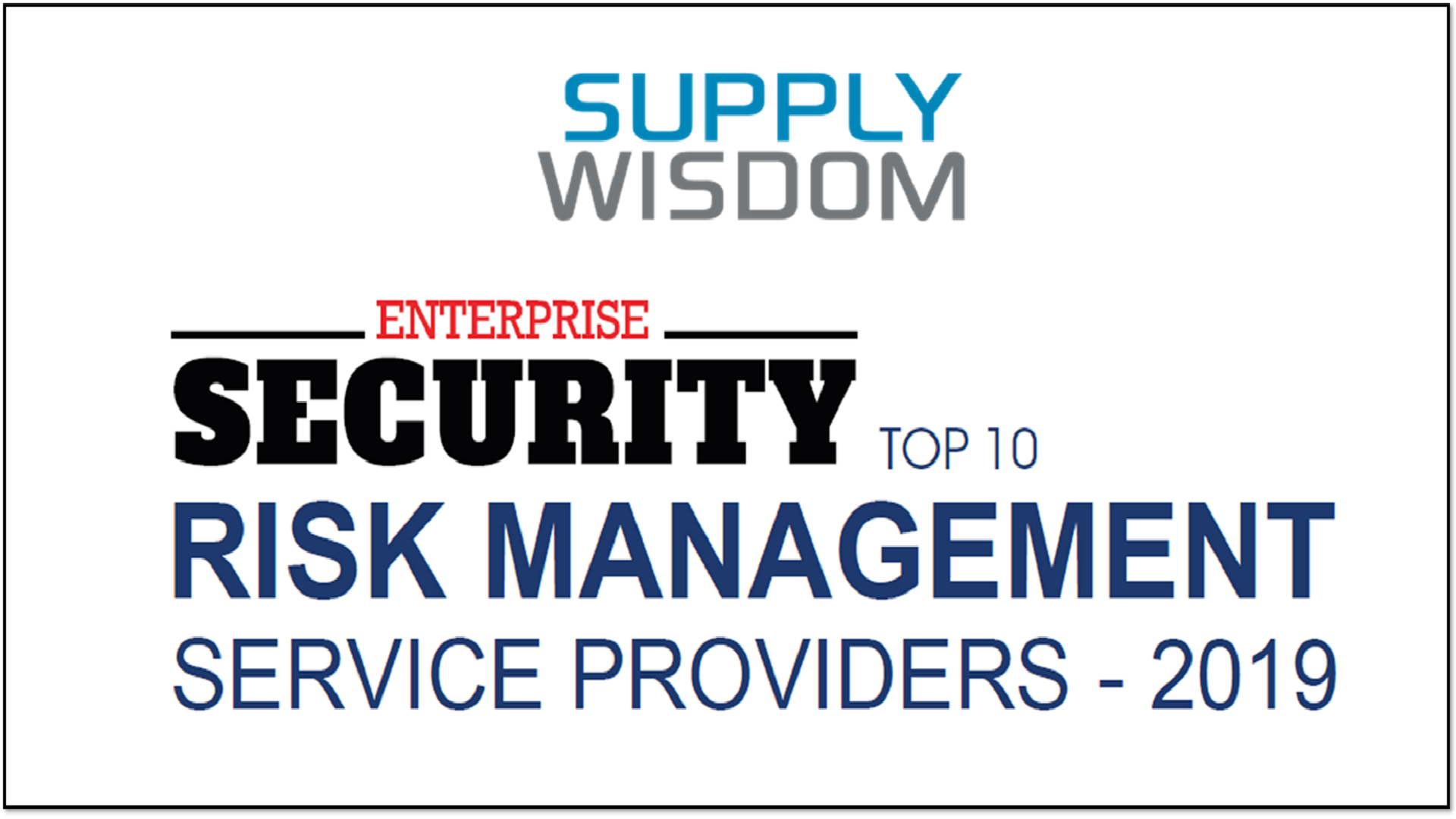 Supply Wisdom Top10 Risk Management Service Providers