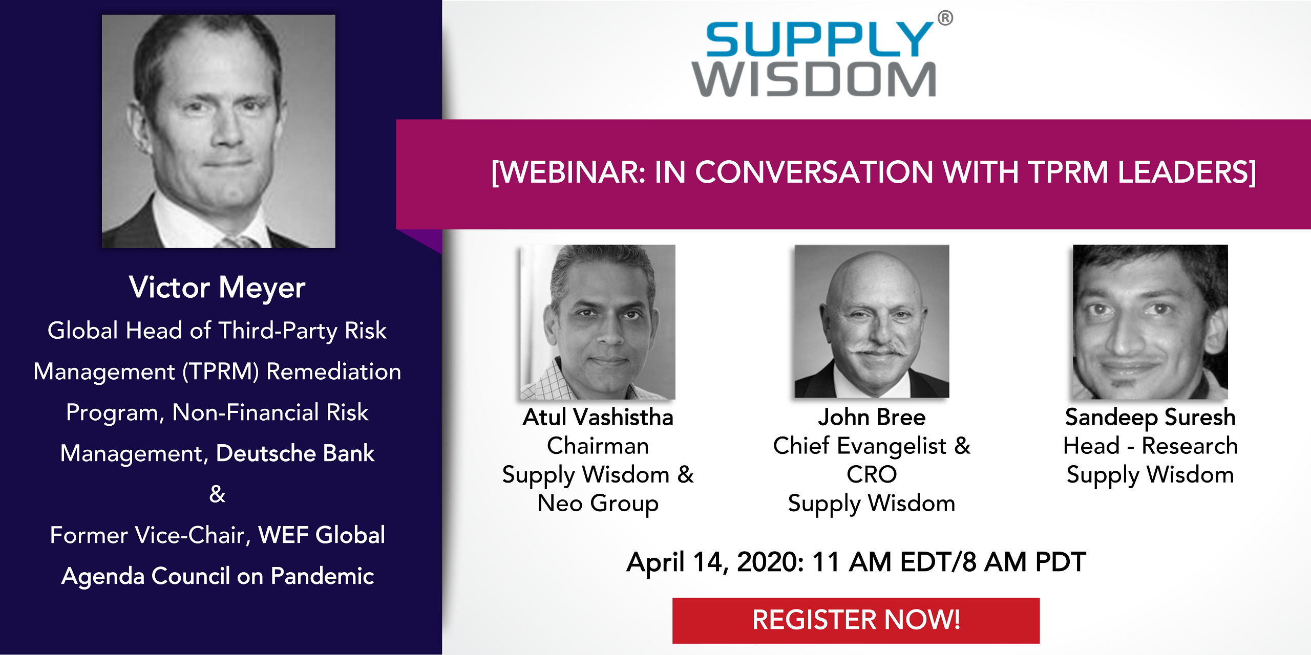 Supply Wisdom Covid19 Webinar with TPRM Leaders