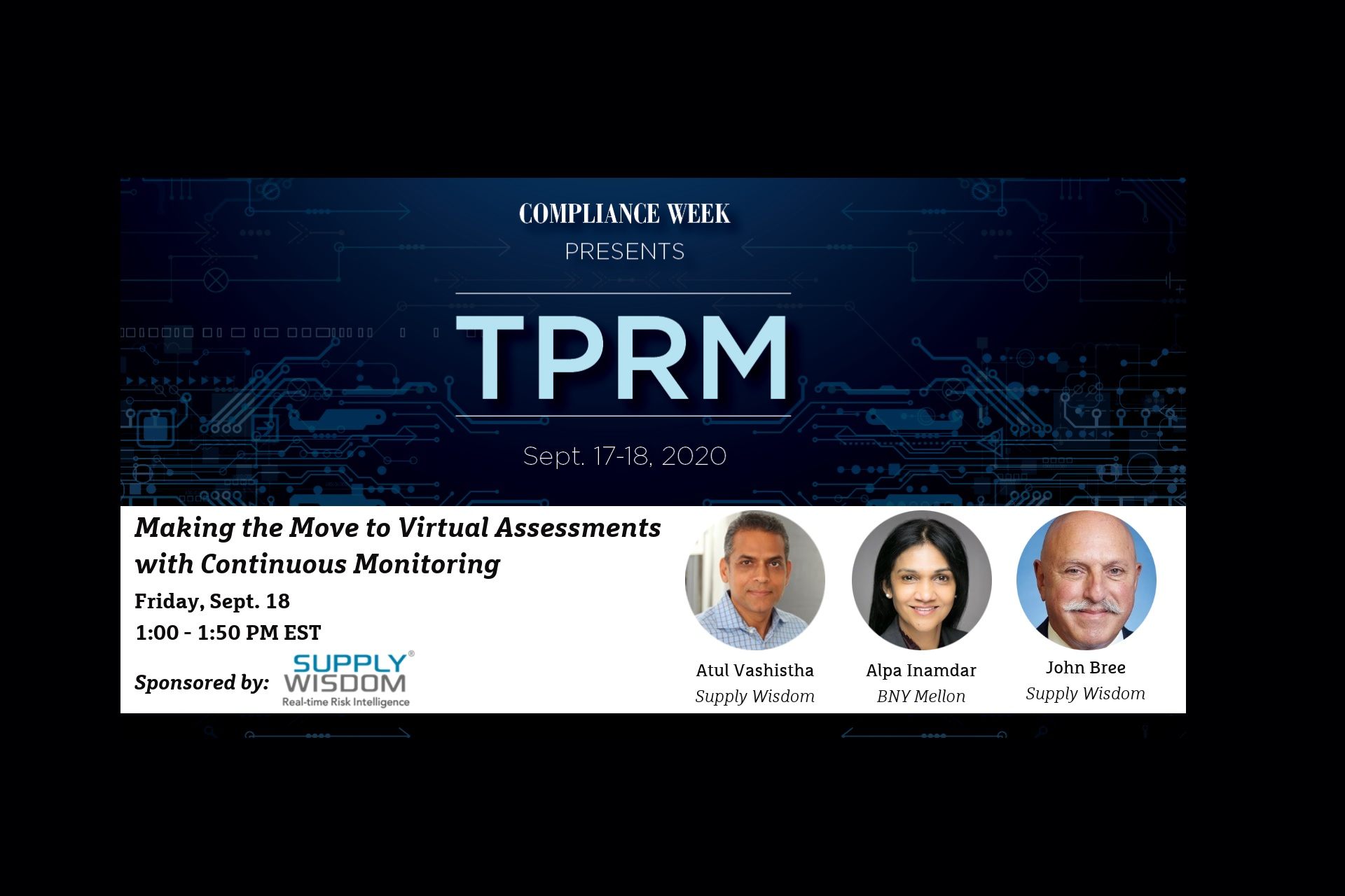 Supply Wisdom sponsors Compliance Week TPRM 2020