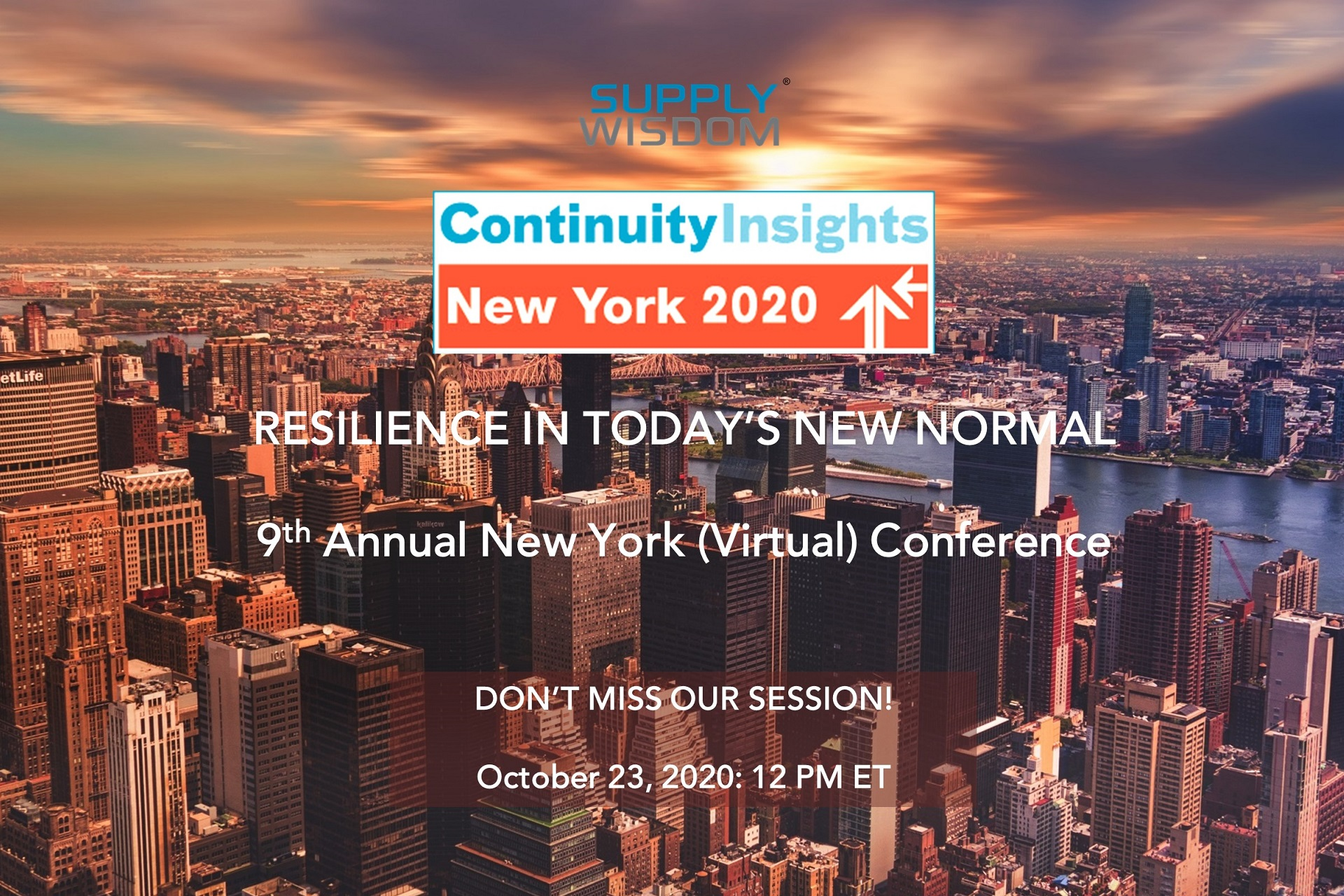 Supply Wisdom at Continuity Insights Virtual Conference