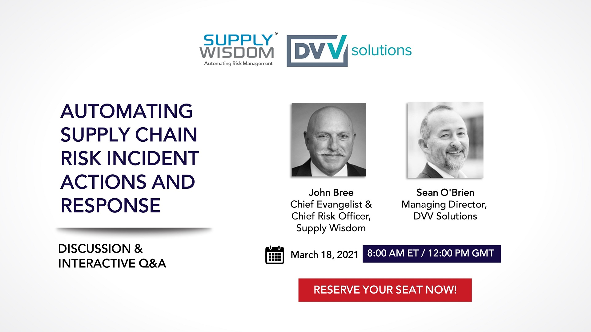 2021 March 18 Webinar on Automating Supply Chain Risk Management