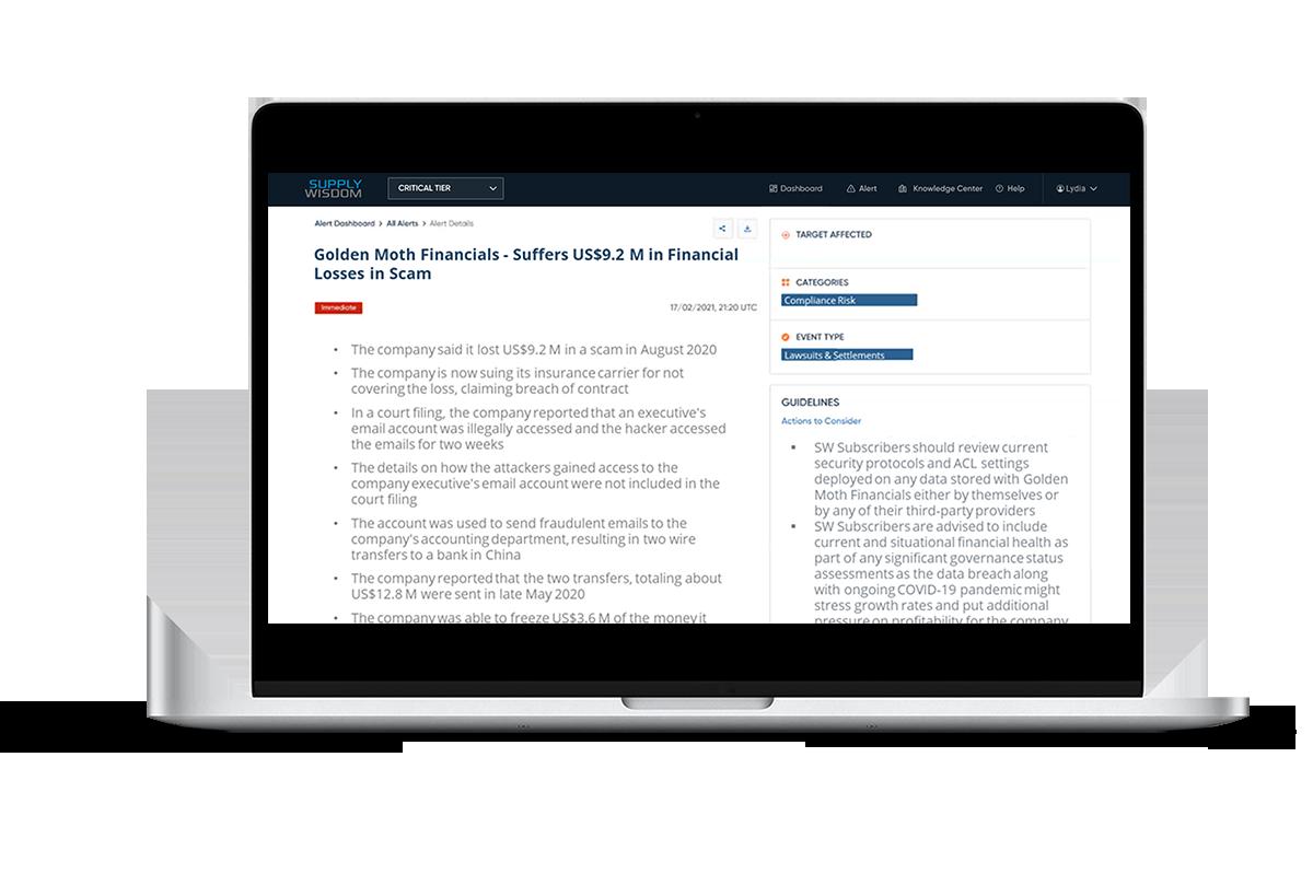 Golden Moth Financials - Compliance Risk