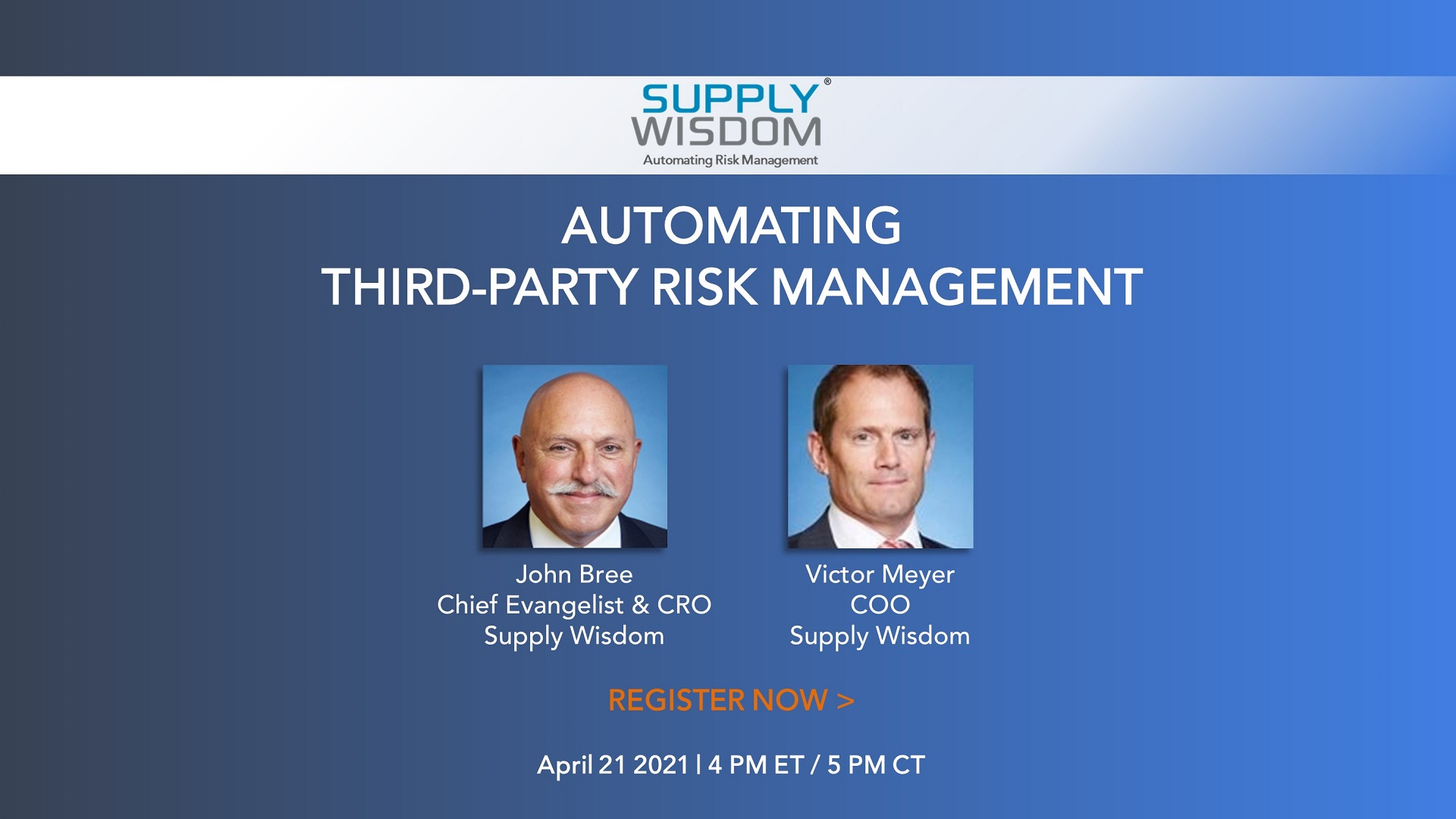 Supply Wisdom will present a session on Automating TPRM at TPRA Spring Conference
